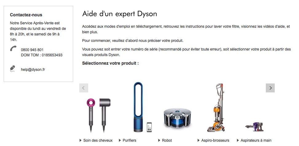 contacter-Dyson